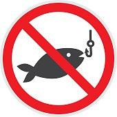 Simbolo del divieto di pesca