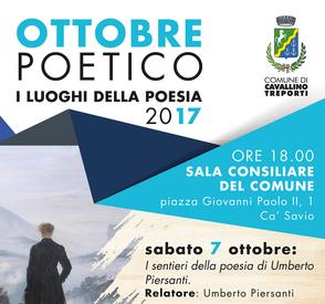 Locandina Ottobre poetico
