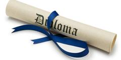 diploma con nastro