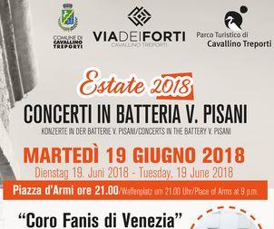 Concerto Coro Fanis di Venezia in Batteria V. Pisani, 19 giugno ore 21