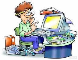 Professionista al lavoro al computer