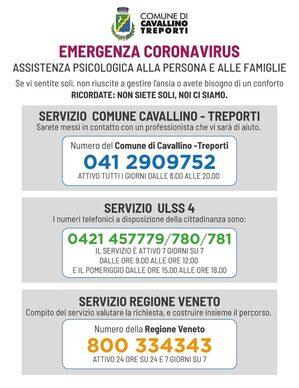 DEPLIANT numeri utili emergenza coronavirus