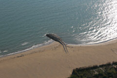 vista di un tratto di spiaggia del litorale